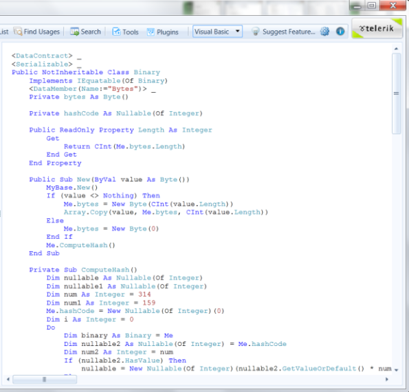 Switching between VB.NET and C# Code