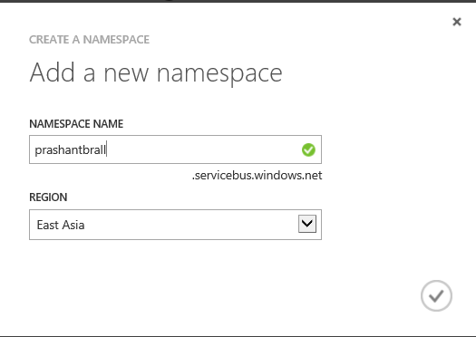 Add namespace