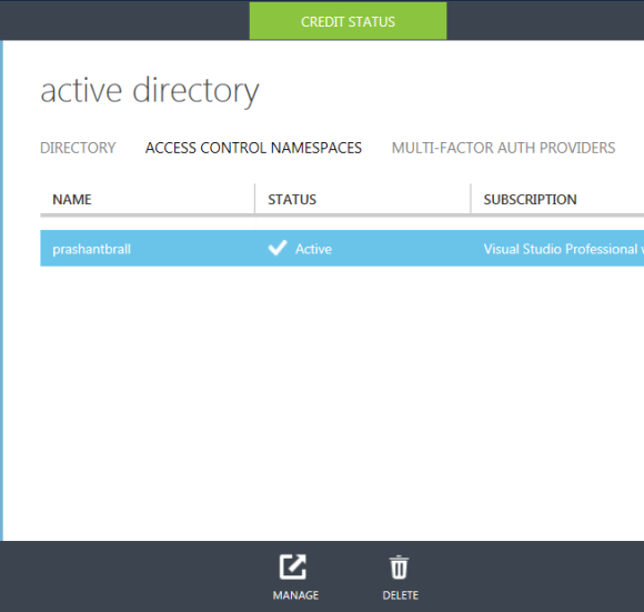 Manage Access Control namespace