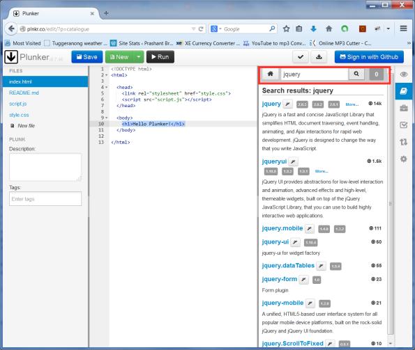Search in plunk editor.